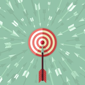 target and arrow symbolizing business plan success with business coaching